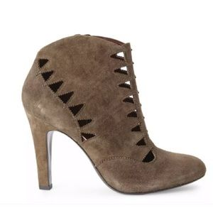Aerin mink suede ankle boot size 9 NWB